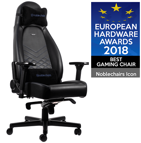 Кресло Noblechairs ICON (NBL-ICN-PU-BBL) PU Leather / black/blue