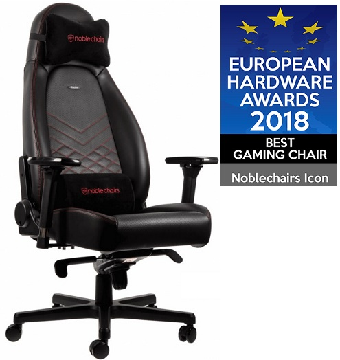 Кресло Noblechairs ICON PU Leather / black-red