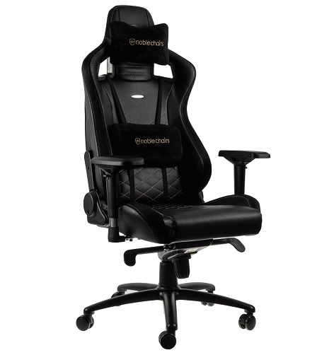 Кресло Noblechairs EPIC PU Leather  black/gold (золотое)