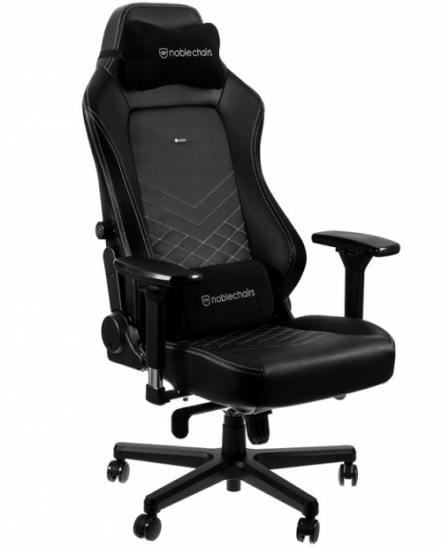 кресло Noblechairs серия HERO Black/Platinum White