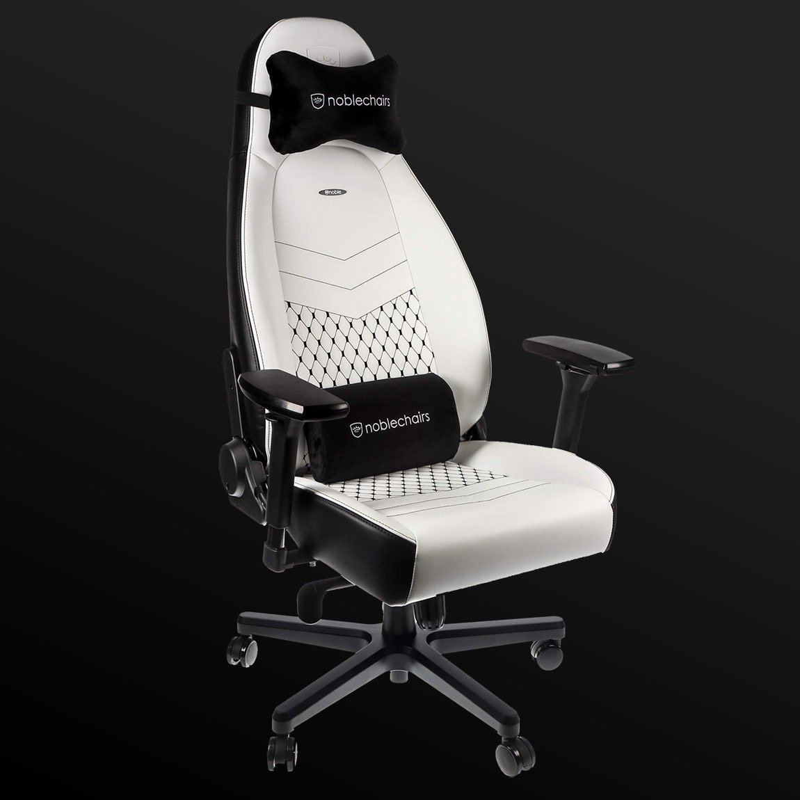 Noblechairs ICON  PU  white  (new 2020 год. белое)