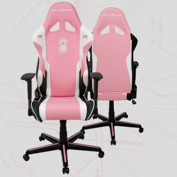 DXRacer OH/RZ95/PWN SPECIAL EDITION Pink Paw Print Conventional