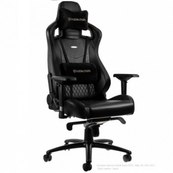 Noblechairs Epic Real Leather Черное (нат.кожа)