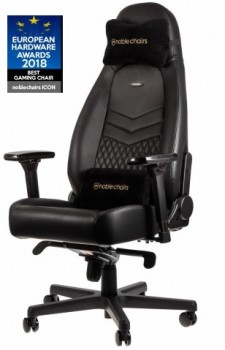 Noblechairs ICON Real Leather Black (нат.кожа)