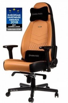 Noblechairs ICON Real Leather Cognac/Black (нат.кожа)